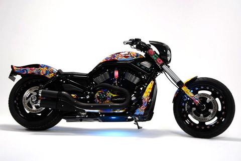 Phong cách lạ mắt cho 'vua bóng đêm' Harley Davidson