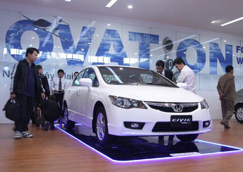"""Nổi bật """"Thời trang"""" Honda Civic Wise tại Việt Nam Motorshow"""