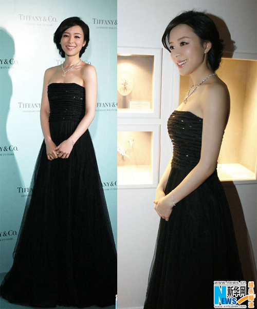 Người đẹp gốc Hoa quyền quý trong váy đen sang trọng