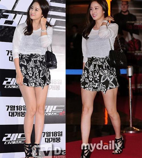 BST váy ngắn của Kim Tae Hee siêu dễ thương