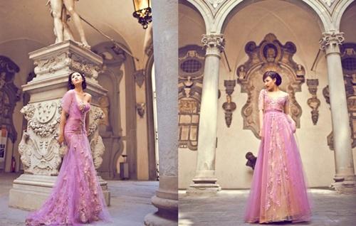 Dàn mẫu Việt sang Milan diễn thời trang