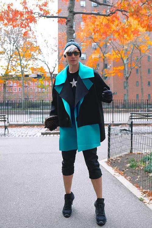 Soi thời trang một màu ấn tượng đình đám sáng tạo