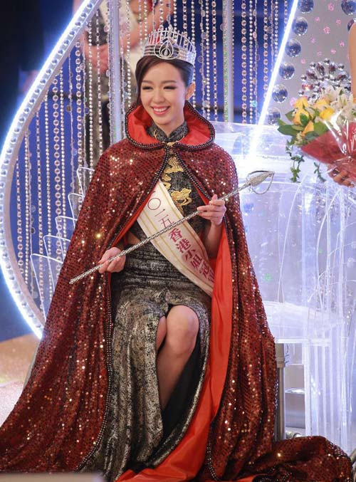 Tân Hoa hậu Hong Kong tự tin với chiều cao 1m63