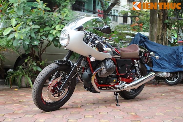 Cận cảnh hàng hiếm Moto Guzzi V7 Racer Record tại Hà Nội