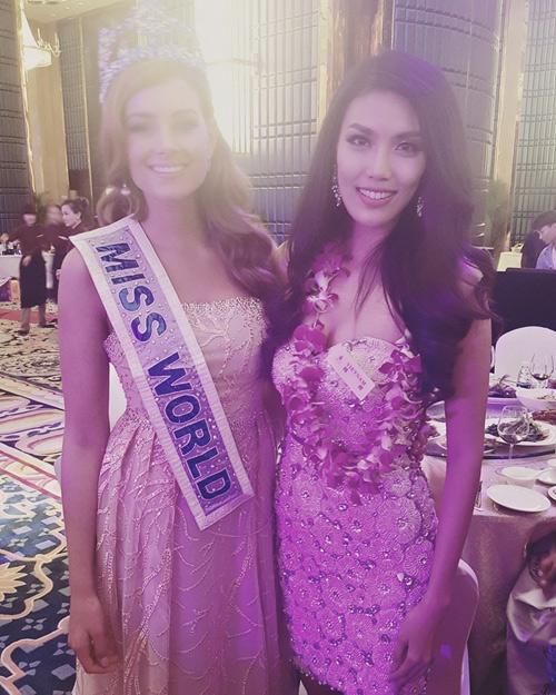 Hình ảnh của Lan Khuê tại Hoa hậu Thế giới