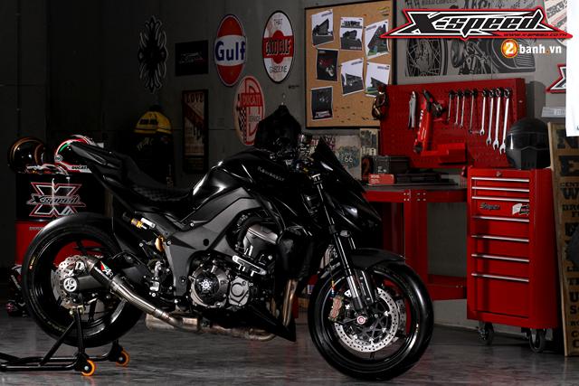 Kawasaki Z1000 siêu ngầu trong phiên bản độ Super Black