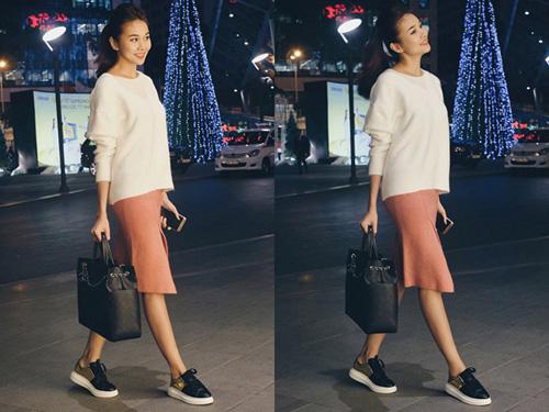 Sao Việt càng mặc đơn giản càng đẹp hơn