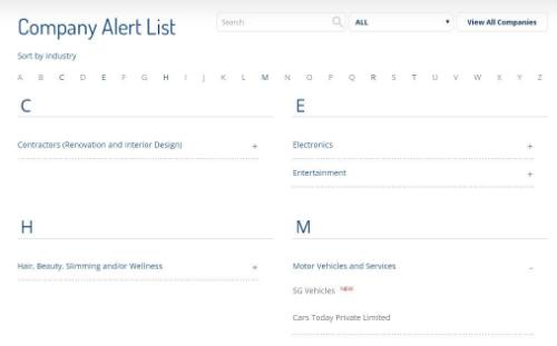 Singapore công khai tên các cửa hàng gian dối bạn cần lưu ý