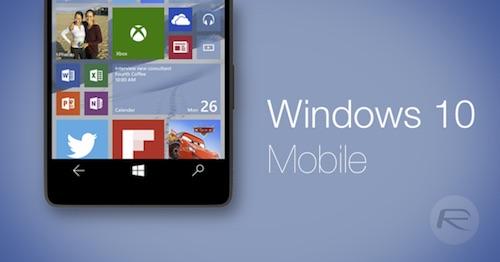 Smartphone của bạn có được lên đời Windows 10 mobile ?