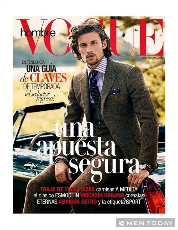 Quý ông phong trần và nam tính trên tạp chí Vogue Hombre
