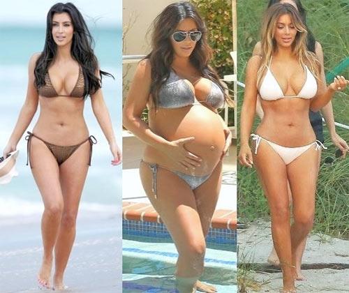 Vóc dáng sexy sau sinh nở của cô Kim