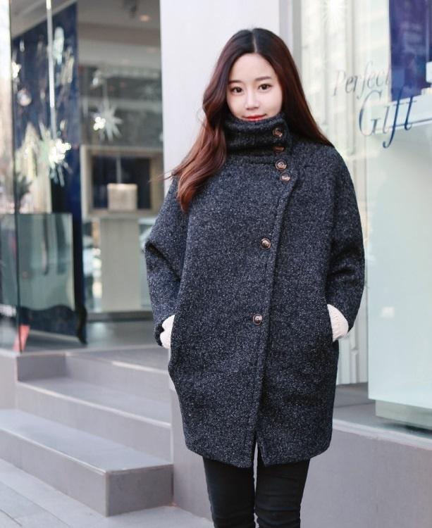 Áo khoác dạ nữ dáng suông đẹp cho ngày Đông