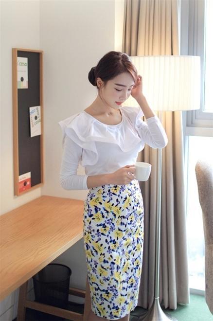 Áo sơ mi nữ trắng đẹp Hàn Quốc cách điệu