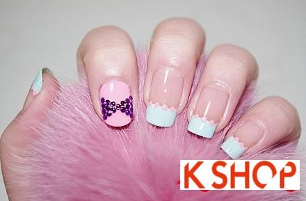 Cách vẽ móng tay nail màu pastel đẹp đơn giản