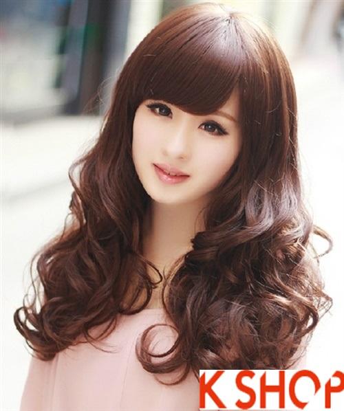 Kiểu tóc xoăn đẹp phong cách Hàn Quốc xinh xắn