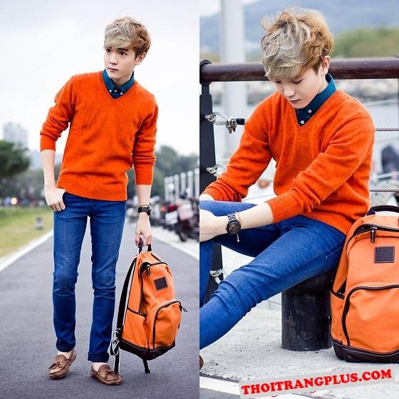 Màu tóc nhuộm ánh kim đẹp của các chàng trai Hàn Quốc
