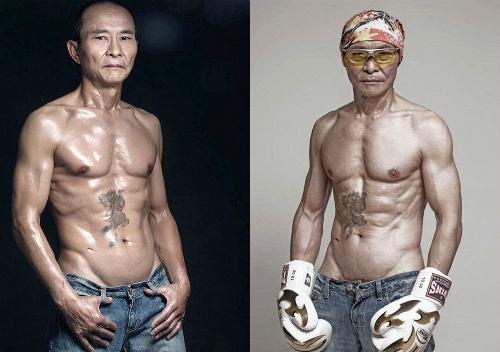 Ông già 61 tuổi khoe cơ bắp cuồn cuộn và ước mơ đua xe