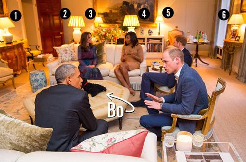 Phòng khách nhà Hoàng tử Anh có gì thú vị