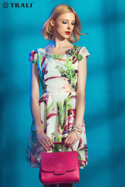 Váy đầm họa tiết liền thân đẹp sành điệu hè 2017