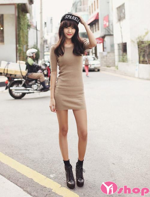 Váy đầm len liền thân đẹp xu hướng