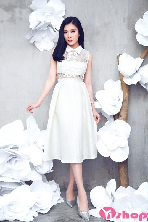 Váy đầm liền dáng xòe đẹp cách điệu