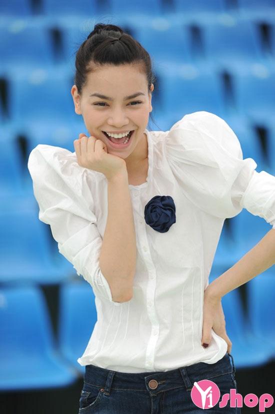 Áo sơ mi nữ tay bồng đẹp như sao Việt