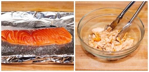 Bữa sáng sang chảnh với cơm rang cá hồi