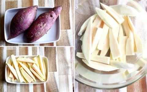Tự làm khoai lang, khoai tây lắc phô mai tại nhà