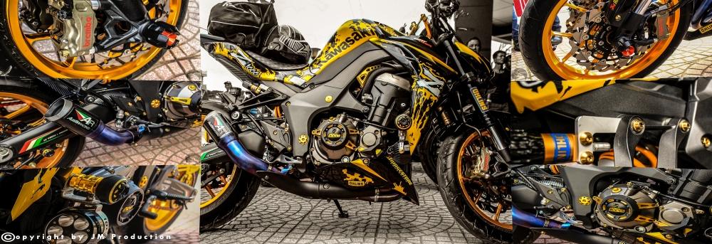 Kawasaki Z1000 độ ấn tượng trong bộ cánh mới cùng đồ chơi hàng khủng
