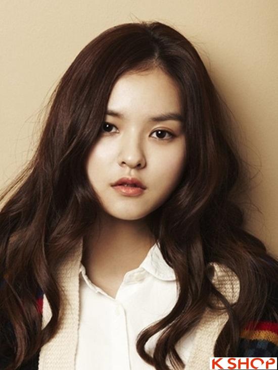 5 Kiểu tóc xoăn dài Hàn Quốc bồng bềnh