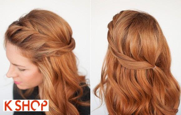Cách tết tóc mái dài đẹp cho bạn gái duyên dáng