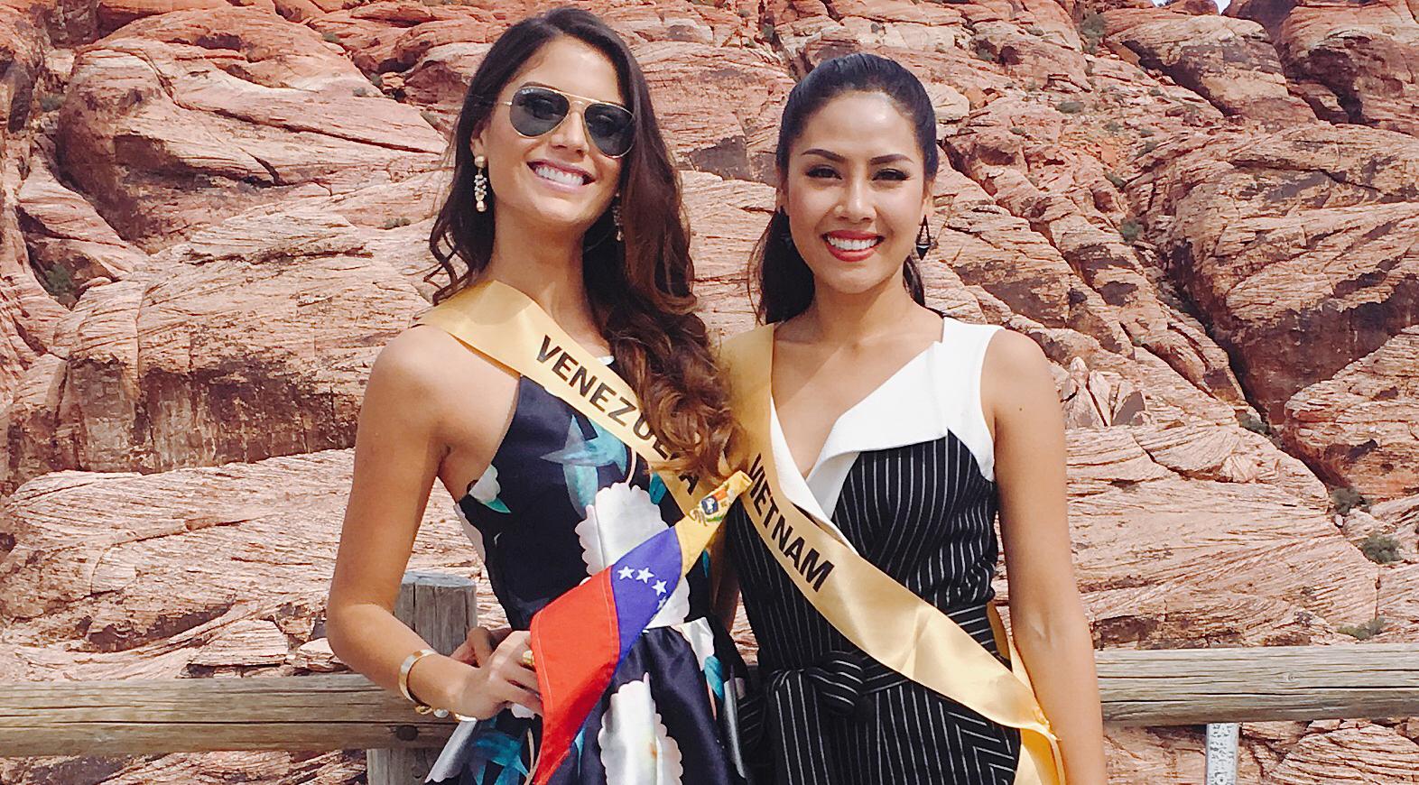Nguyễn Thị Loan nhanh chóng kết thân với người đẹp Venezuela