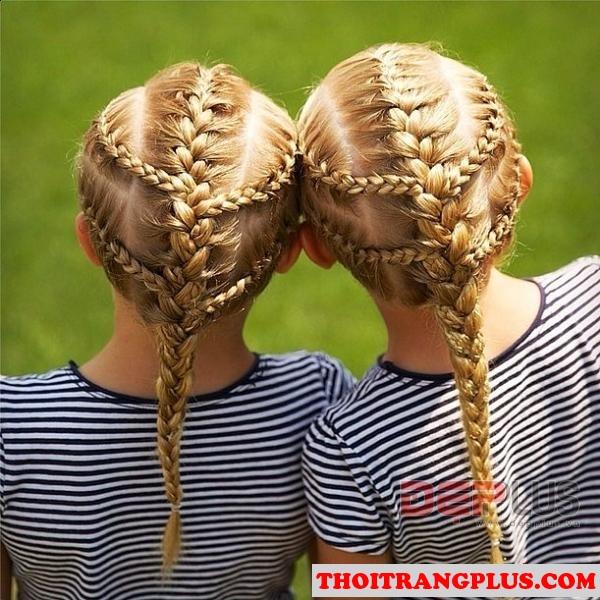 Những kiểu tóc đẹp dễ thương xinh xắn cho các bé yêu