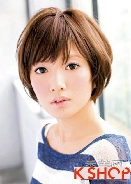 Những kiểu tóc ngắn đẹp phù hợp cho bạn gái có khuôn mặt tròn