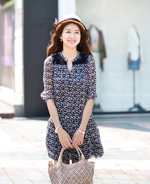 Váy liền thân Hàn Quốc đẹp duyên dáng