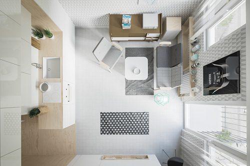 Mẫu thiết kế nhà ở dưới 20m2 cho các cặp vợ chồng trẻ