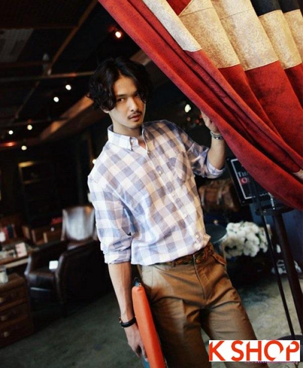 Những kiểu áo sơ mi nam cổ họa tiết mang phong cách Hàn Quốc