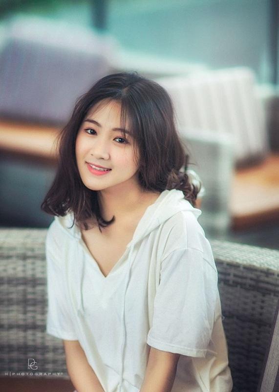 Nhan sắc nữ sinh Hà thành có gương mặt siêu đáng yêu