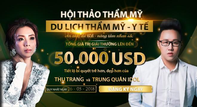 """""""Hoa hậu"""" làng hài Thu Trang cùng """"thánh mưa"""" Trung Quân"""