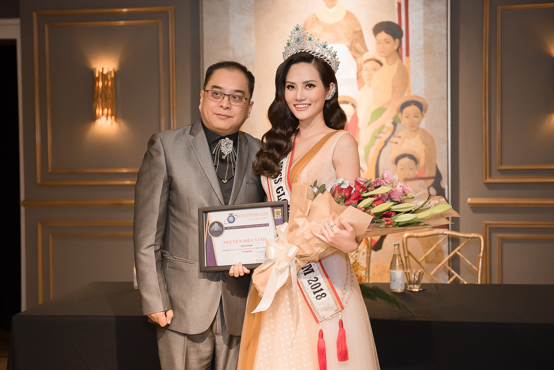 Nguyễn Diệu Linh được trao vương miện Hoa hậu Du lịch Toàn cầu