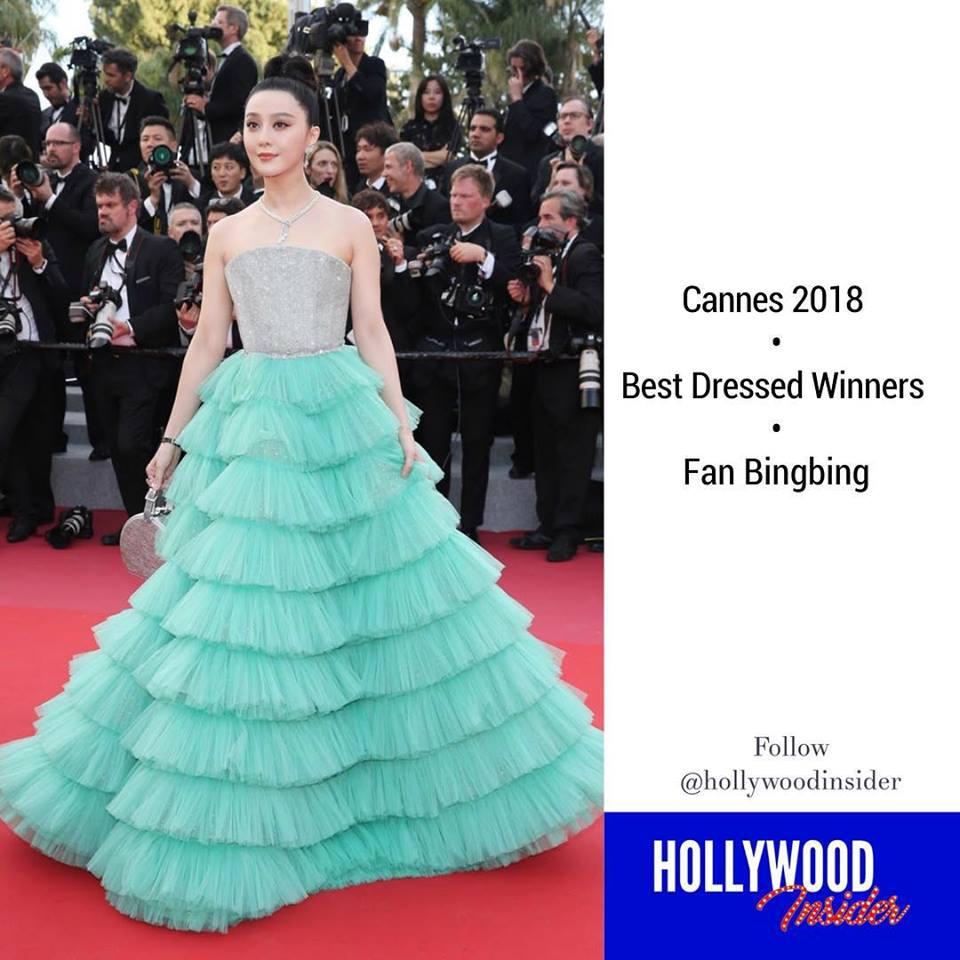 Phạm Băng Băng hiên ngang giành giải trang phục đẹp nhất Cannes 2018