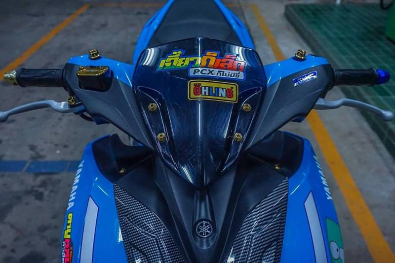 NVX 155 độ phong cách Drag chất ' độc đáo ' của biker Thailand