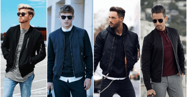 Các kiểu áo khoác bomber nam cá tính