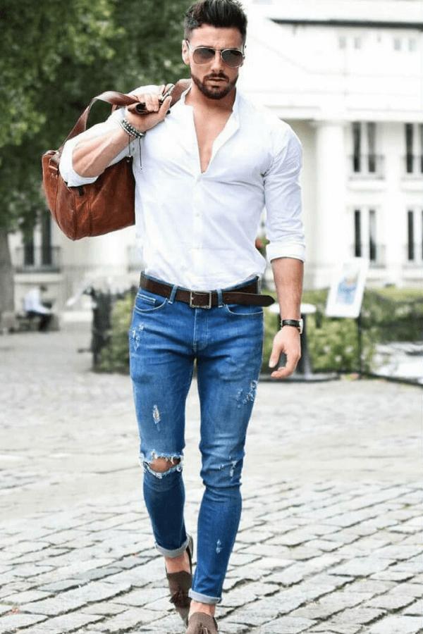 Bí quyết phối quần jeans nam đẹp mạnh mẽ cá tính