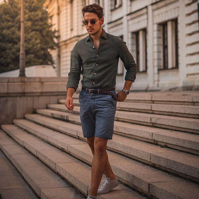 4 tips phối quần short kaki vừa năng động lại thanh lịch