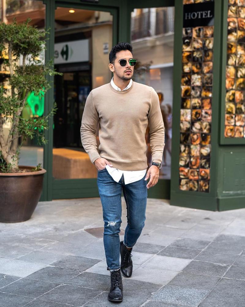 """Cảm hứng phối áo sweater và sơ mi chuẩn """"style layer"""" đầy ấm áp và phong cách"""