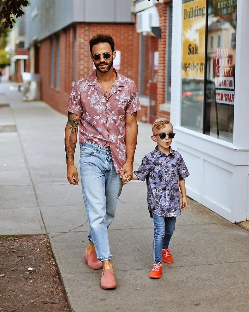 Cảm hứng phối đồ giúp cặp bố con sành điệu như fashionista cá tính