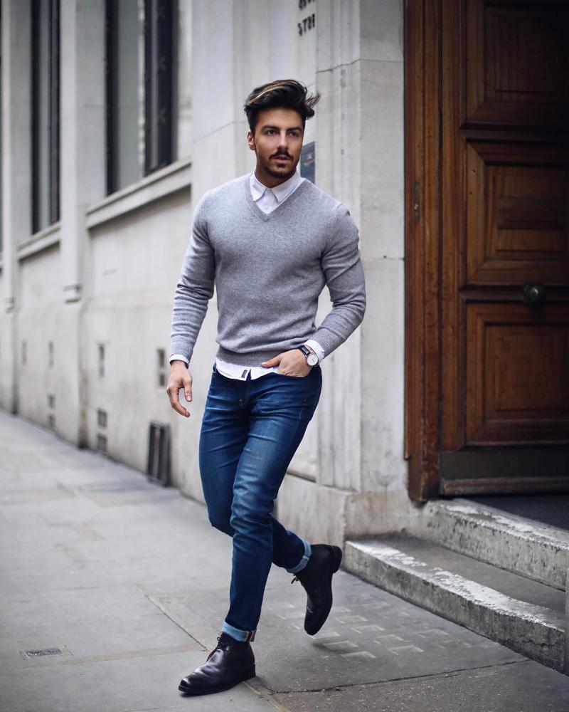 Vừa bảnh vừa chất với 7 cách phối đồ nam cùng quần jeans mạnh mẽ