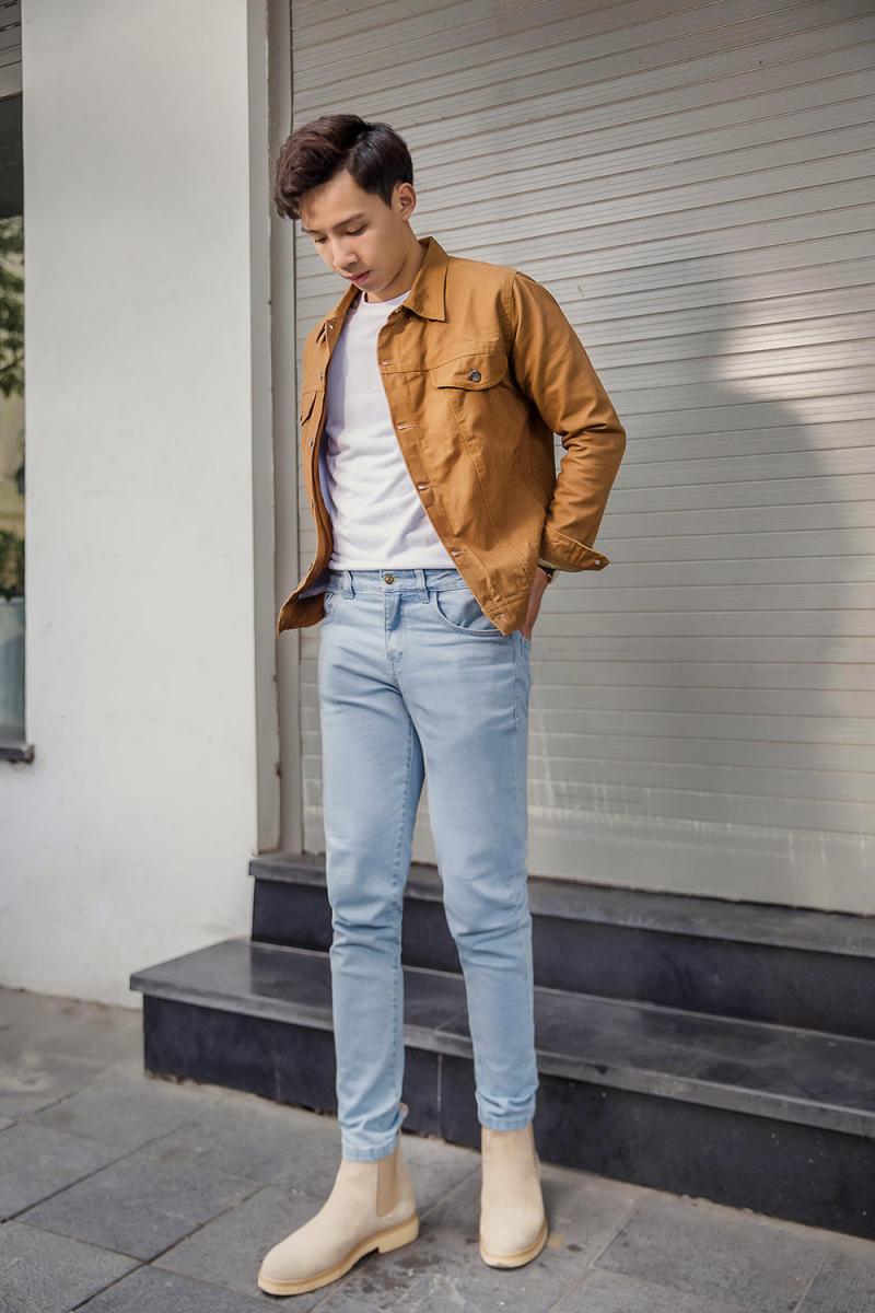 10 cách mix đồ với quần jean nam cực cá tính