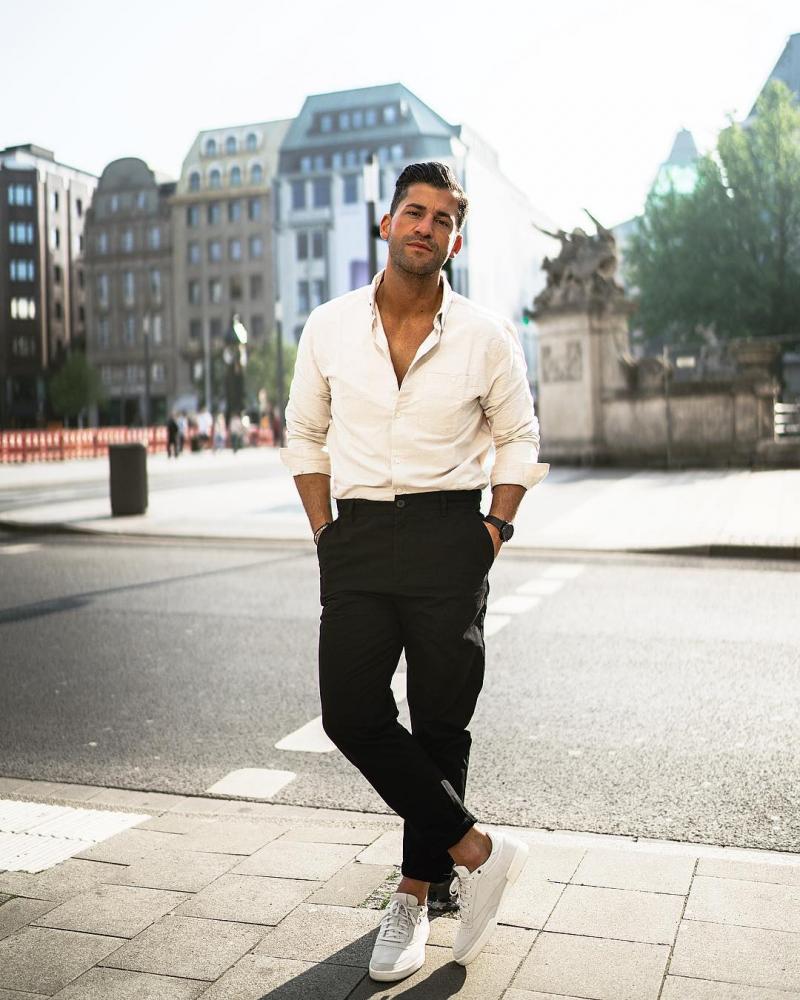 7 cách phối áo sơ mi trắng cho nam giới luôn phong cách